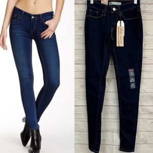 Levi's super skinny ultra stretch soft jeans dark